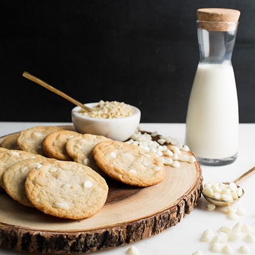 White choc macadamia nut